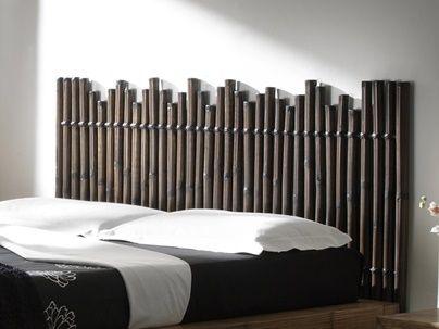 Tête de lit en bambou
