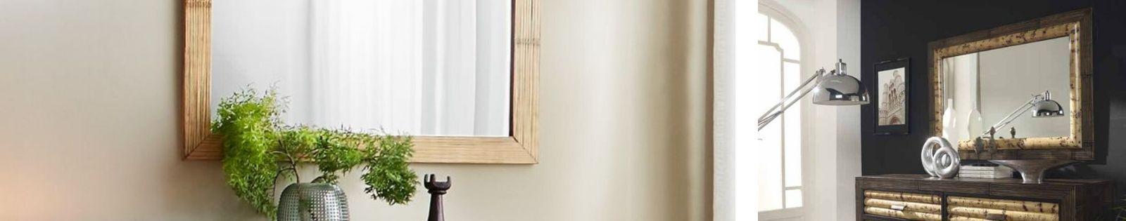 Miroirs en bambou : décoration haut de gamme en provenance d'Indonésie