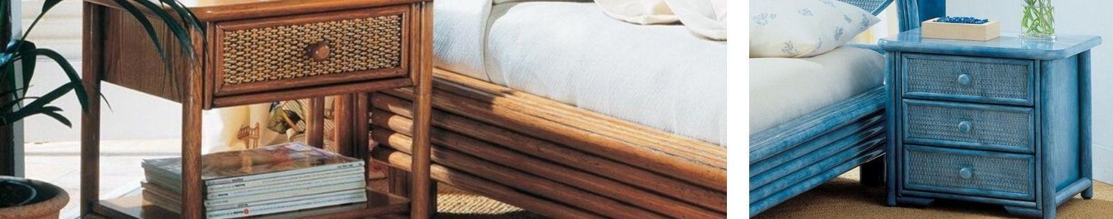 Chevets en rotin : meubles haut de gamme de fabrication espagnole.
