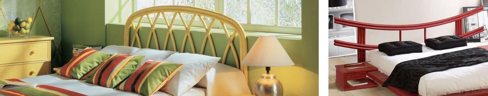 Tête de lit en rotin : meubles haut de gamme de fabrication espagnole.