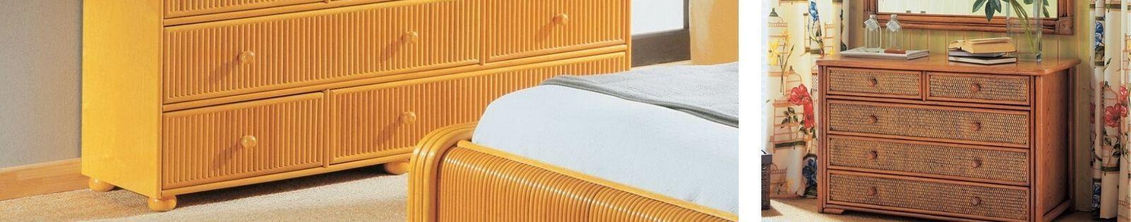 Commodes en rotin : meubles haut de gamme de fabrication espagnole.