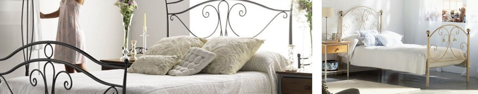 Meuble pour la chambre en Fer forgé design. Lit, tête de lit, chevet, commode. Le Monde du Lit