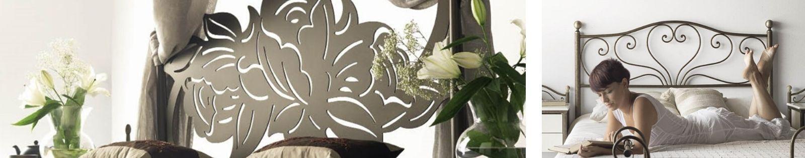 Tête de lit en fer forgé : haut de gamme de fabrication espagnole.