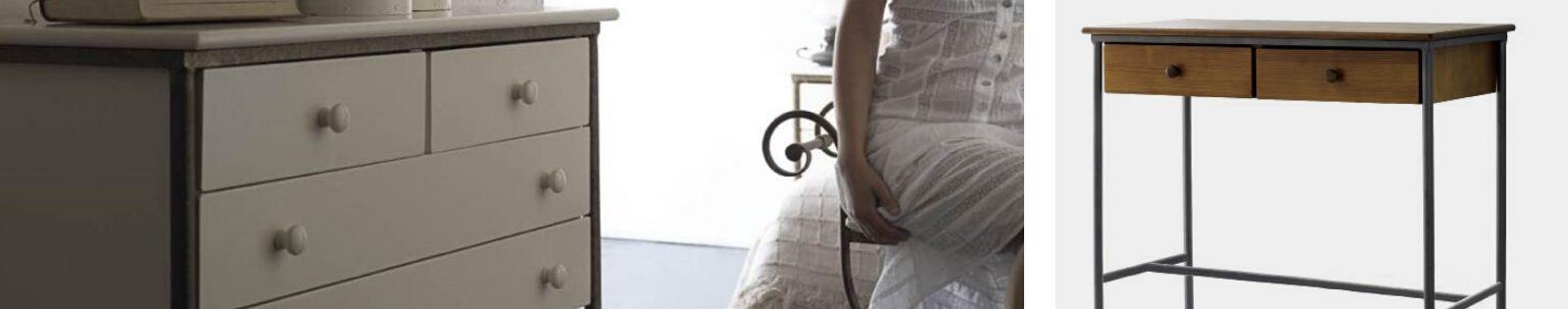 Commode en fer forgé : meuble haut de gamme de fabrication espagnole.