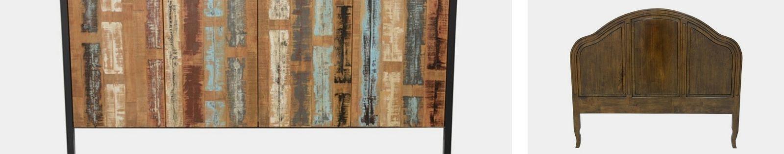 Tête de lits en bois massif de qualité. Meubles haut de gamme.