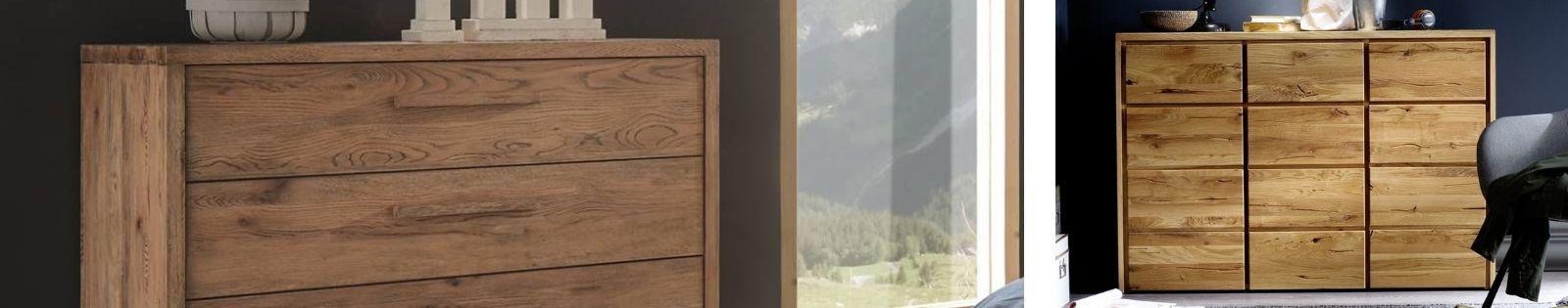 Commode design en bambou, rotin, fer forgé, hêtre, chêne, merisier, noyer massif - Le Monde du Lit