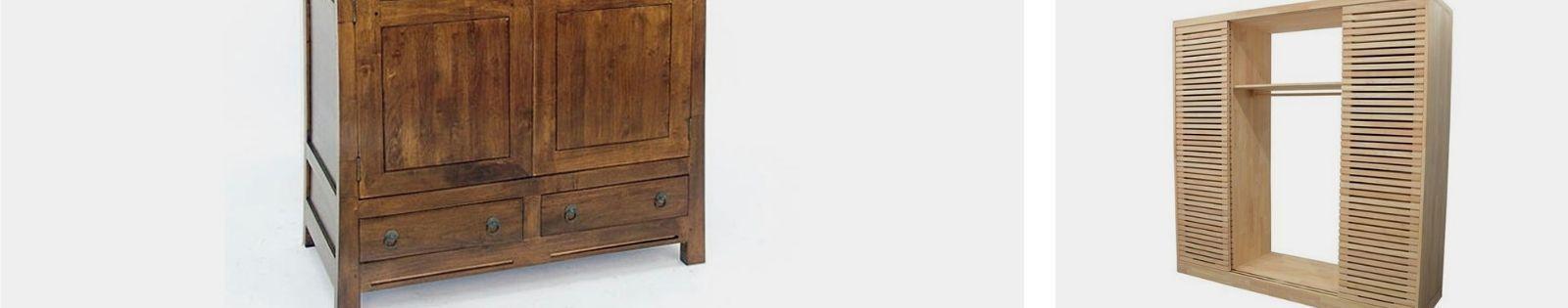 Armoire en bois massif Haut de Gamme en Hêtre, Chêne, Merisier, Noyer, Pin. Le Monde du Lit