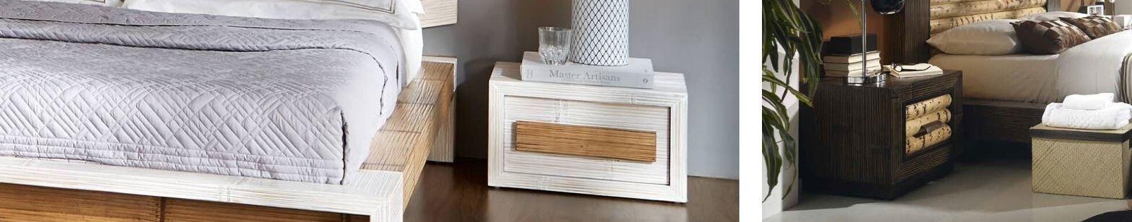 Table de chevet en bambou. Meuble destiné à la chambre en bambou. Le Monde du Lit