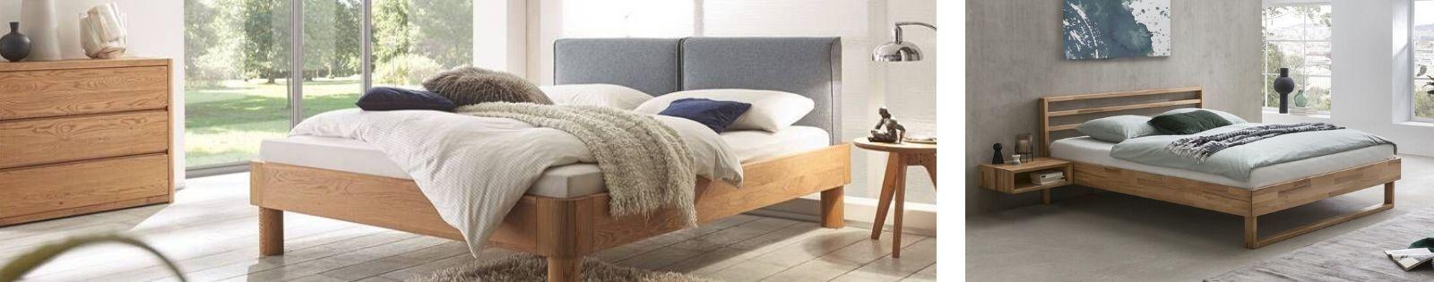 Lits en bois massif : meubles haut de gamme en hévéa, acacia, chêne...