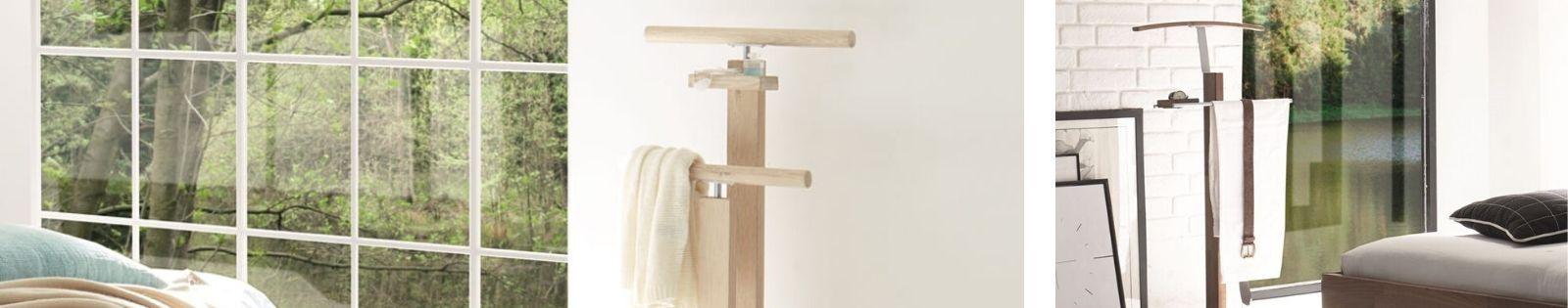 Valets en bois massif : meubles haut de gamme en chêne, hêtre...