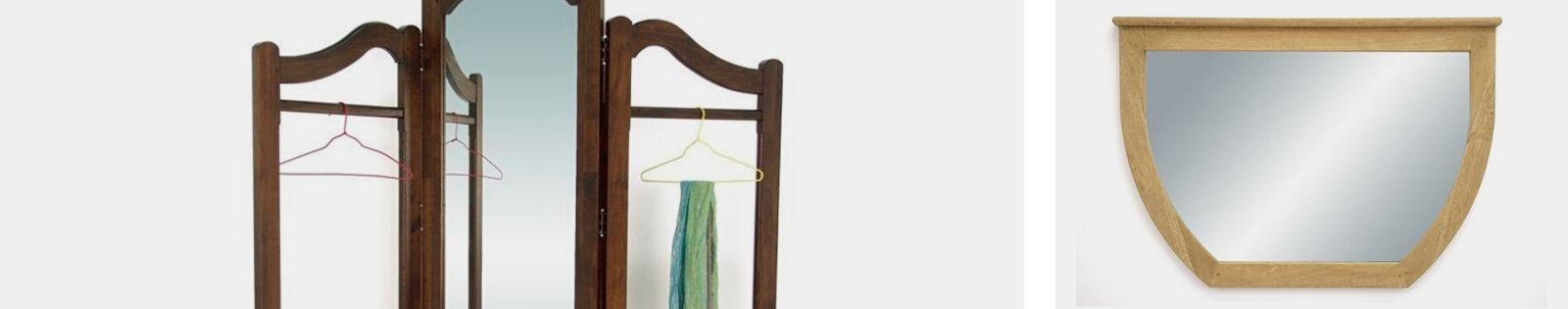 Miroirs en bois massif : décoration haut de gamme en hévéa massif...